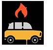 Desastres naturais e incêndio